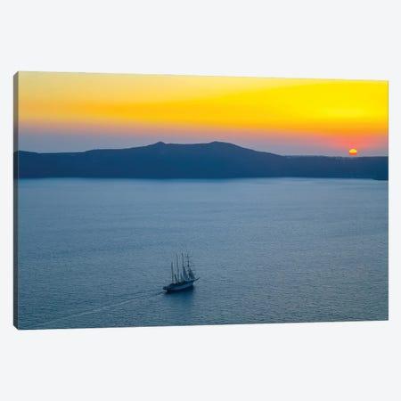 Santorini X Canvas Print #BHE313} by Ben Heine Canvas Print