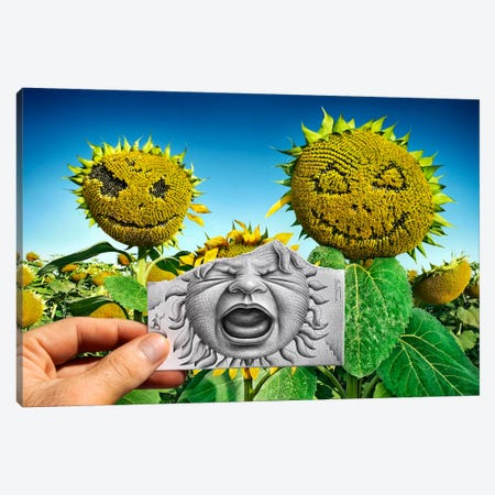 Pencil vs. Camera 62 - Baby Scream Canvas Print #BHE31} by Ben Heine Canvas Wall Art