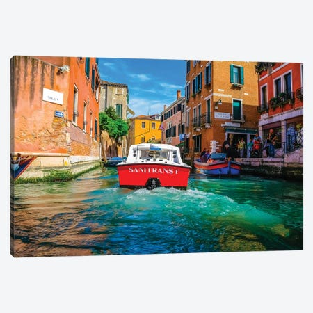 Venice V 3-Piece Canvas #BHE344} by Ben Heine Canvas Print