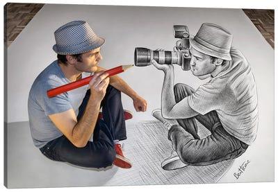 Pencil vs. Camera 73 - Illustrator Vs Photographer Canvas Art Print