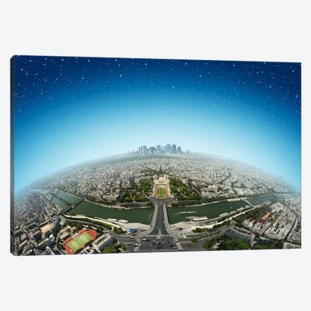 Planet Paris Canvas Print #BHE37} by Ben Heine Art Print