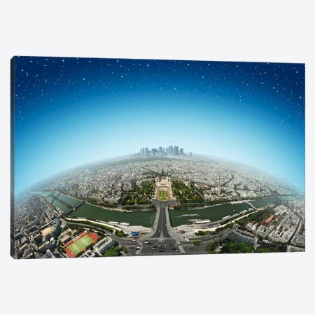 Planet Paris Canvas Print #BHE37} by Ben Heine Art Print