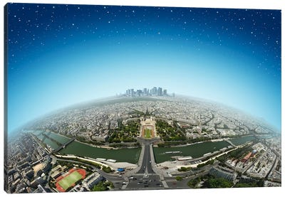 Planet Paris Canvas Art Print