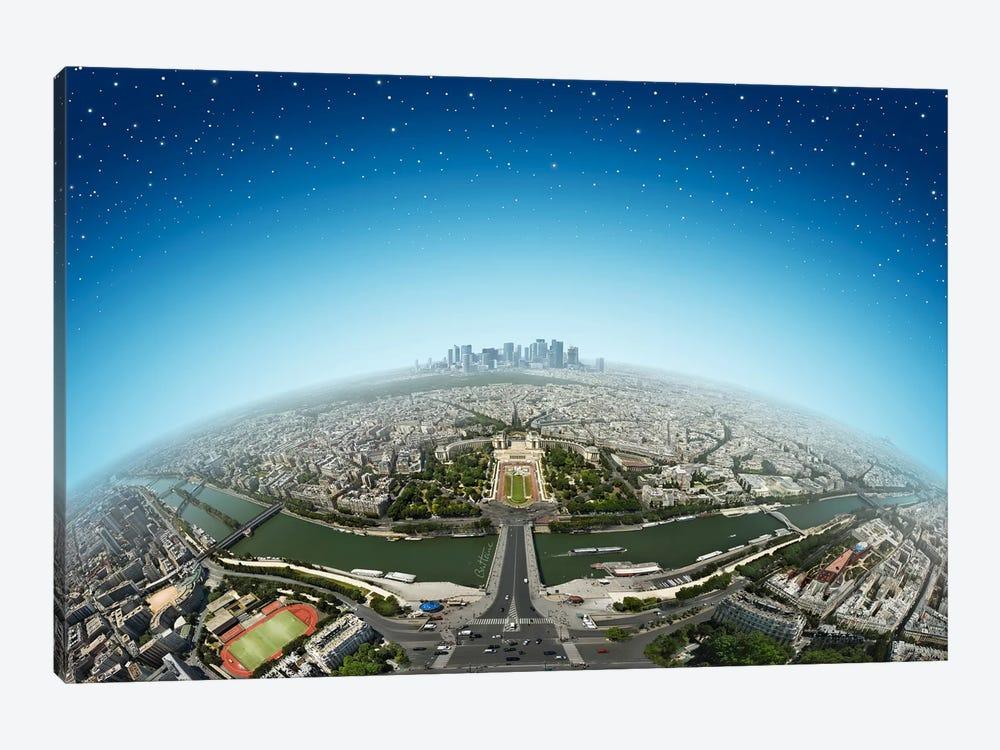 Planet Paris by Ben Heine 1-piece Canvas Art Print