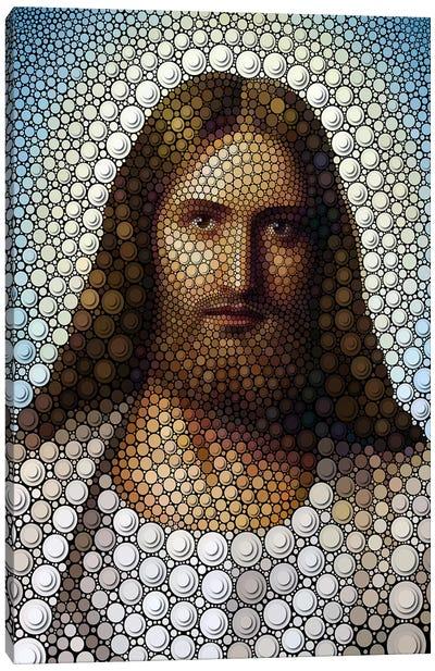 Digital Circlism Series: Jesus Canvas Print #BHE46