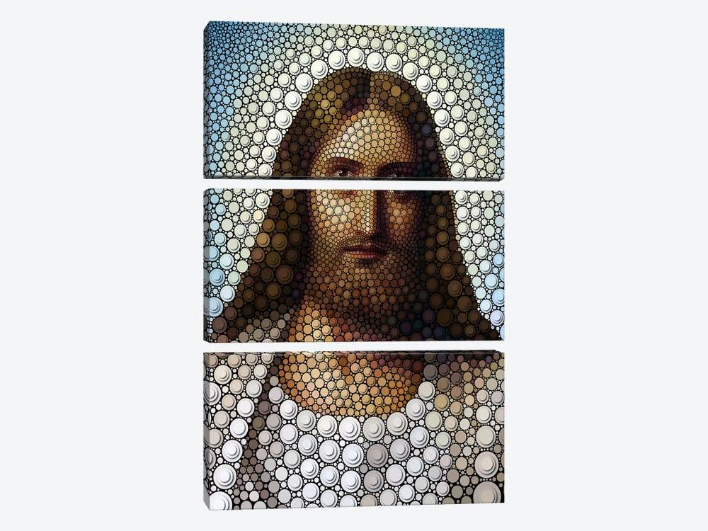 Jesus by Ben Heine 3-piece Canvas Art Print