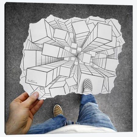 Pencil vs. Camera 32 - Vertigo Canvas Print #BHE47} by Ben Heine Canvas Wall Art
