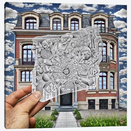Pencil vs. Camera 71 - Creative Office Canvas Print #BHE50} by Ben Heine Canvas Art