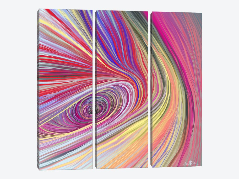 Pure Abstract III by Ben Heine 3-piece Canvas Art