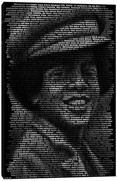 Michael Jackson's Biography Canvas Print #BHE53