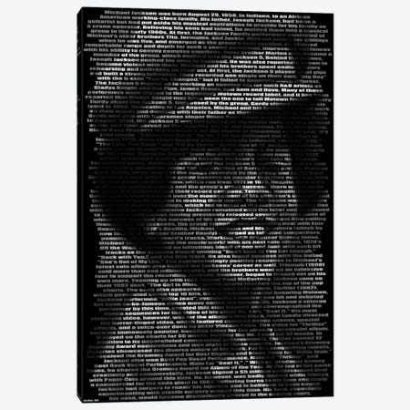 Michael Jackson's Biography Canvas Print #BHE53} by Ben Heine Canvas Artwork