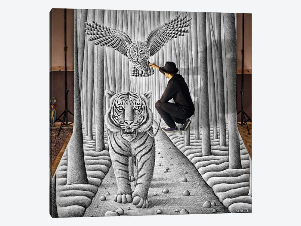 Pencil vs. Camera 74 (In The Making) by Ben Heine 1-piece Art Print