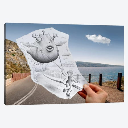 Pencil vs. Camera 48 Canvas Print #BHE59} by Ben Heine Canvas Wall Art
