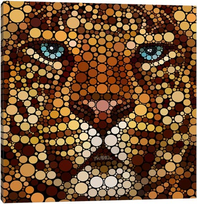Digital Circlism Series: Leopard Canvas Print #BHE5