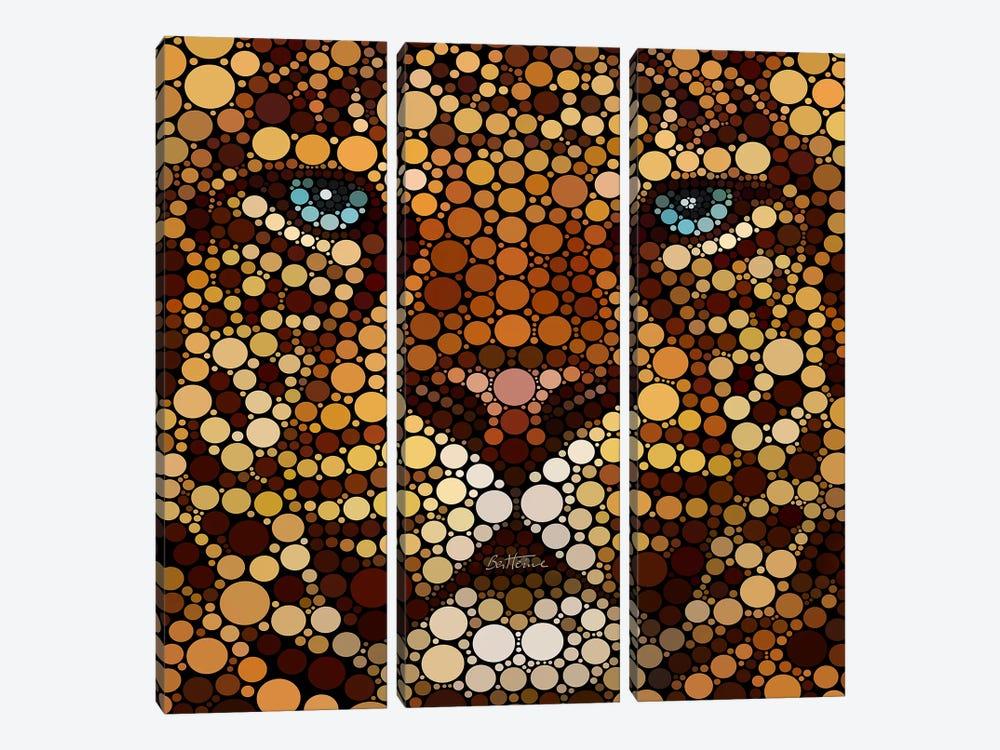Leopard by Ben Heine 3-piece Canvas Artwork