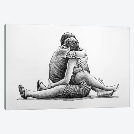 Hug Canvas Print #BHE65} by Ben Heine Canvas Artwork