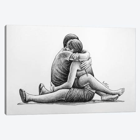 Hug Canvas Print #BHE65} by Ben Heine Canvas Artwork