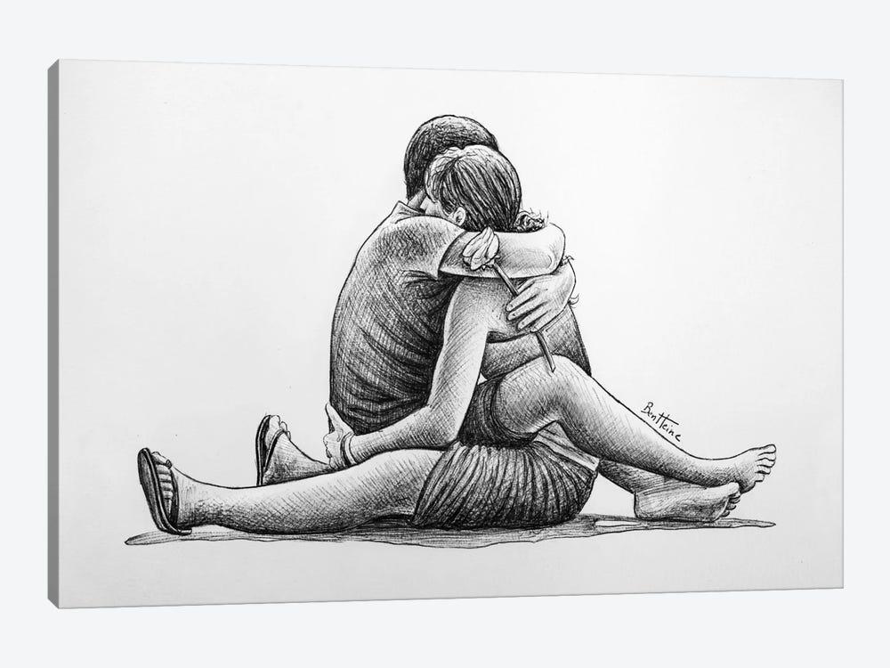 Hug by Ben Heine 1-piece Canvas Wall Art