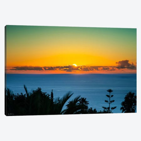 Sunset Tenerife Canvas Print #BHE66} by Ben Heine Canvas Art