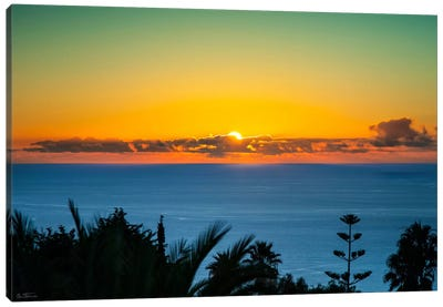 Sunset Tenerife Canvas Art Print