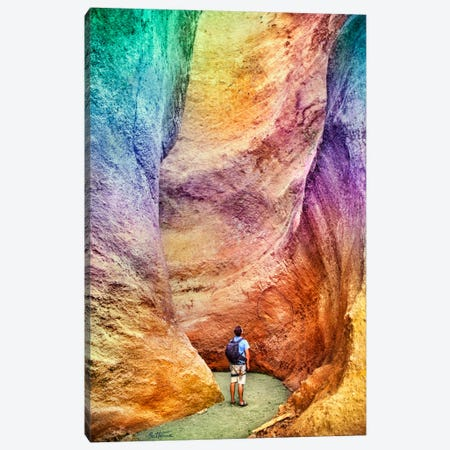 Rainbow Canyon Canvas Print #BHE68} by Ben Heine Canvas Art Print