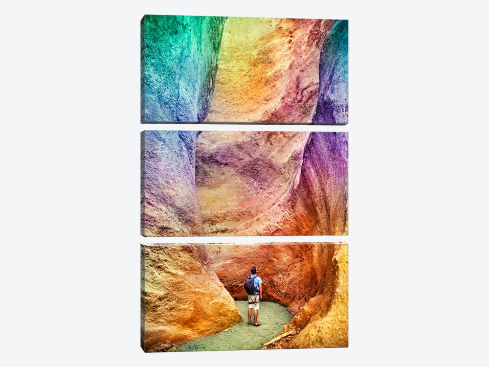 Rainbow Canyon by Ben Heine 3-piece Art Print