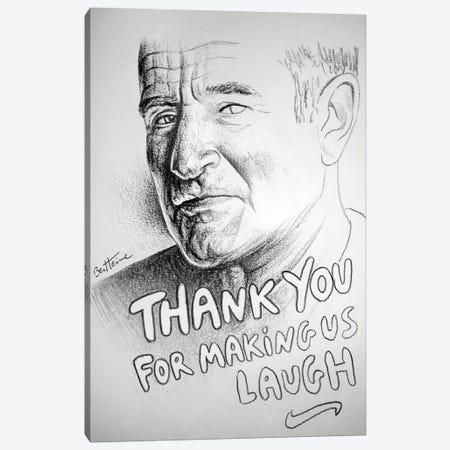 Robin Williams (RIP) Canvas Print #BHE69} by Ben Heine Canvas Print