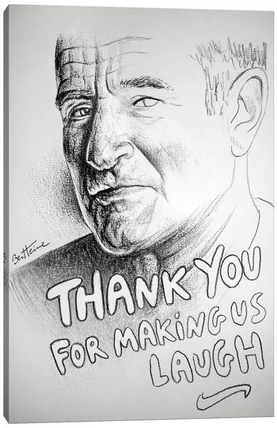Robin Williams (RIP) Canvas Print #BHE69