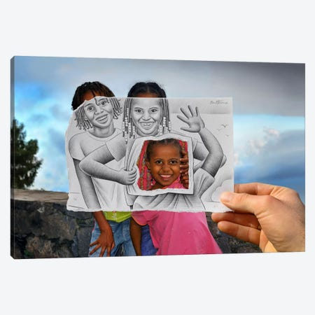 Pencil vs. Camera - 6 Canvas Print #BHE74} by Ben Heine Canvas Print