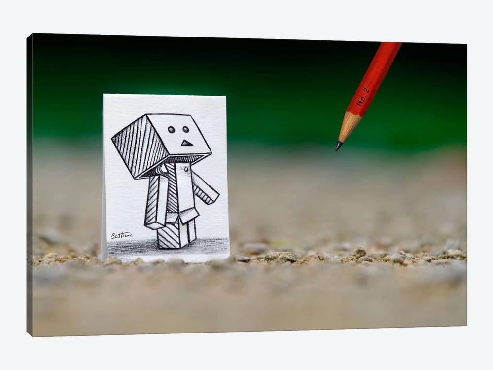 Pencil vs. Camera - 38 by Ben Heine 1-piece Canvas Art