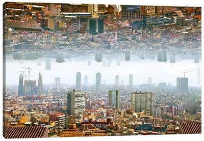Barcelona Double Landscape Canvas Art Print