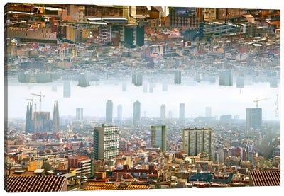 Barcelona Double Landscape Canvas Art Print