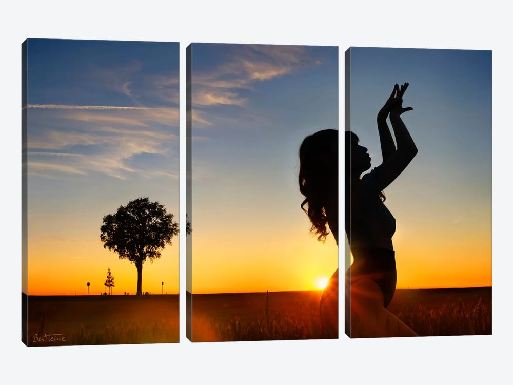 Sunset Woman by Ben Heine 3-piece Canvas Art