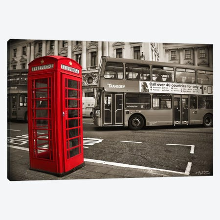 London Telephone Canvas Print #BHE84} by Ben Heine Canvas Wall Art