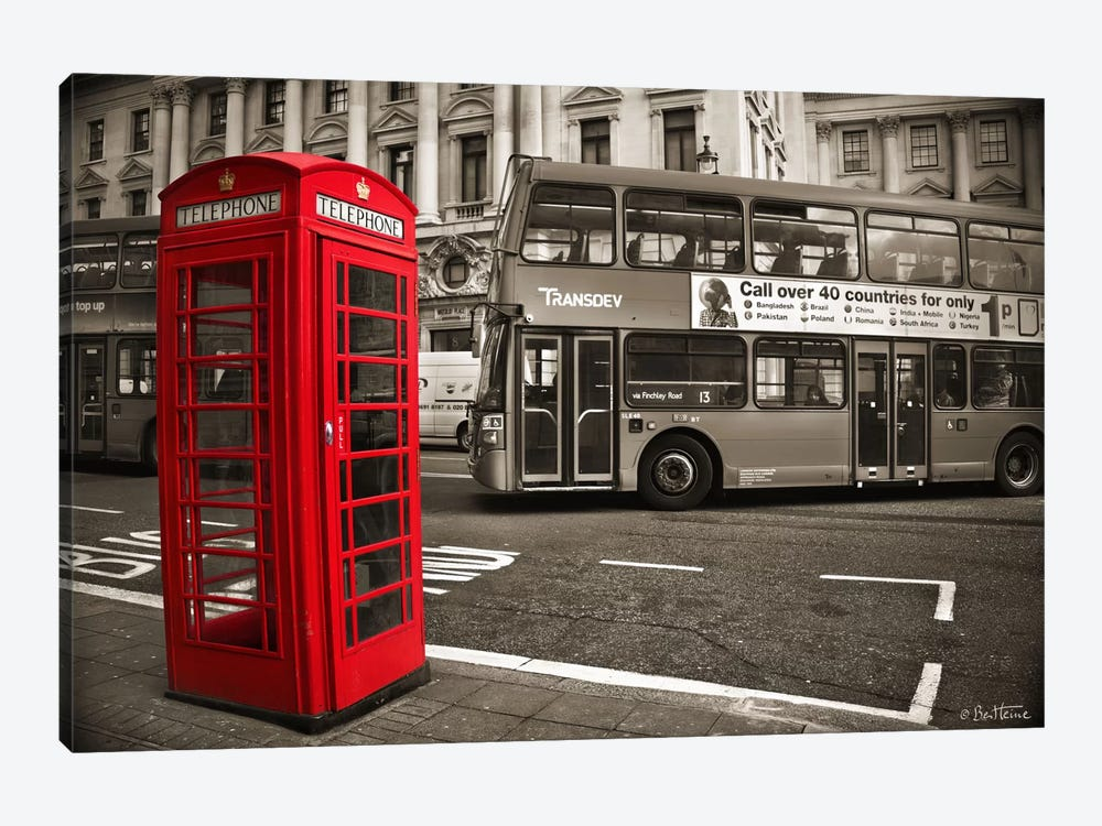 London Telephone by Ben Heine 1-piece Canvas Print