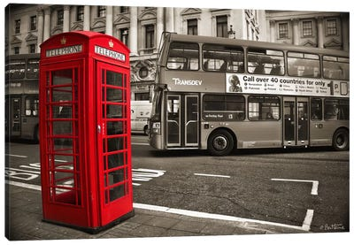 London Telephone Canvas Art Print