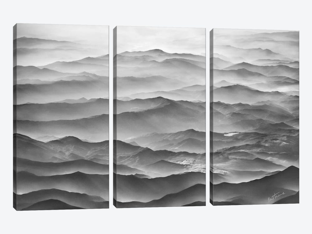 Ocean Mountains by Ben Heine 3-piece Canvas Print