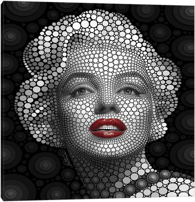Digital Circlism Series: Marilyn Monroe Canvas Art Print