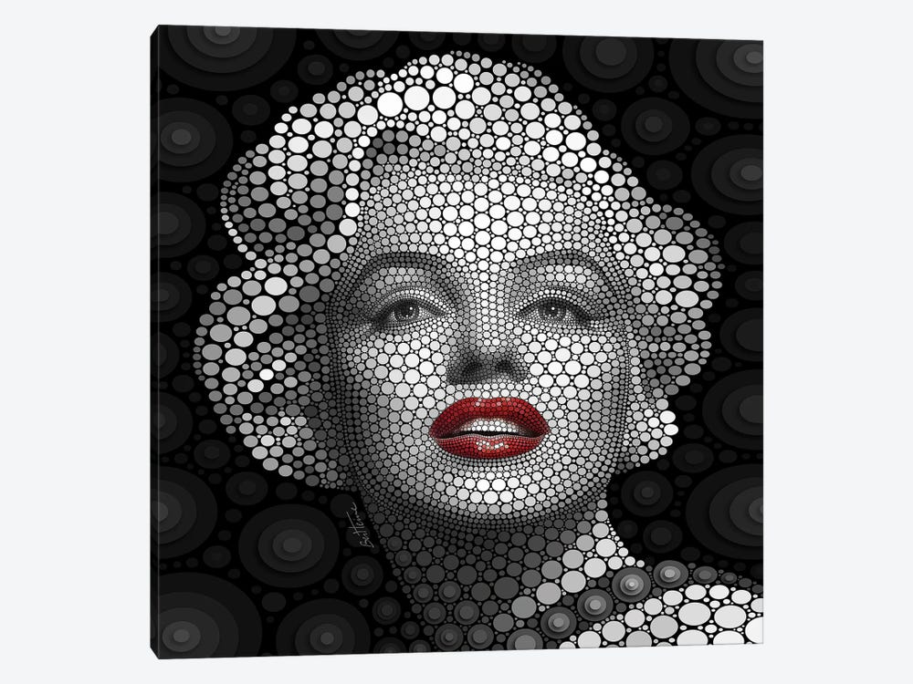 Digital Circlism Series: Marilyn Monroe 1-piece Canvas Print