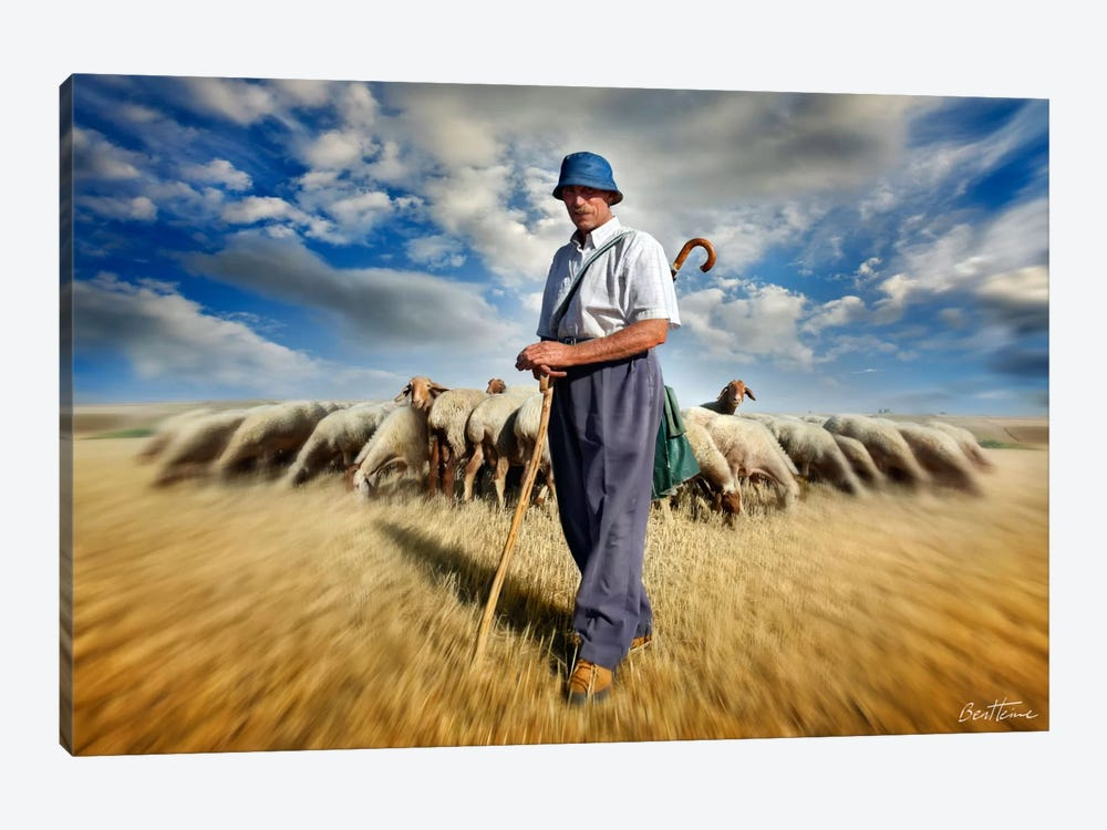 The Shepherd's Call by Ben Heine 1-piece Canvas Art