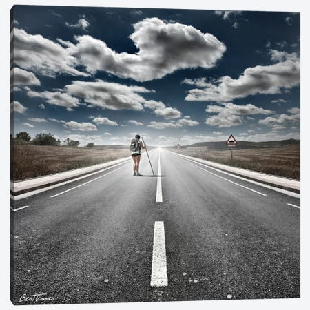 The Road Never Ends Canvas Print #BHE94} by Ben Heine Canvas Art Print