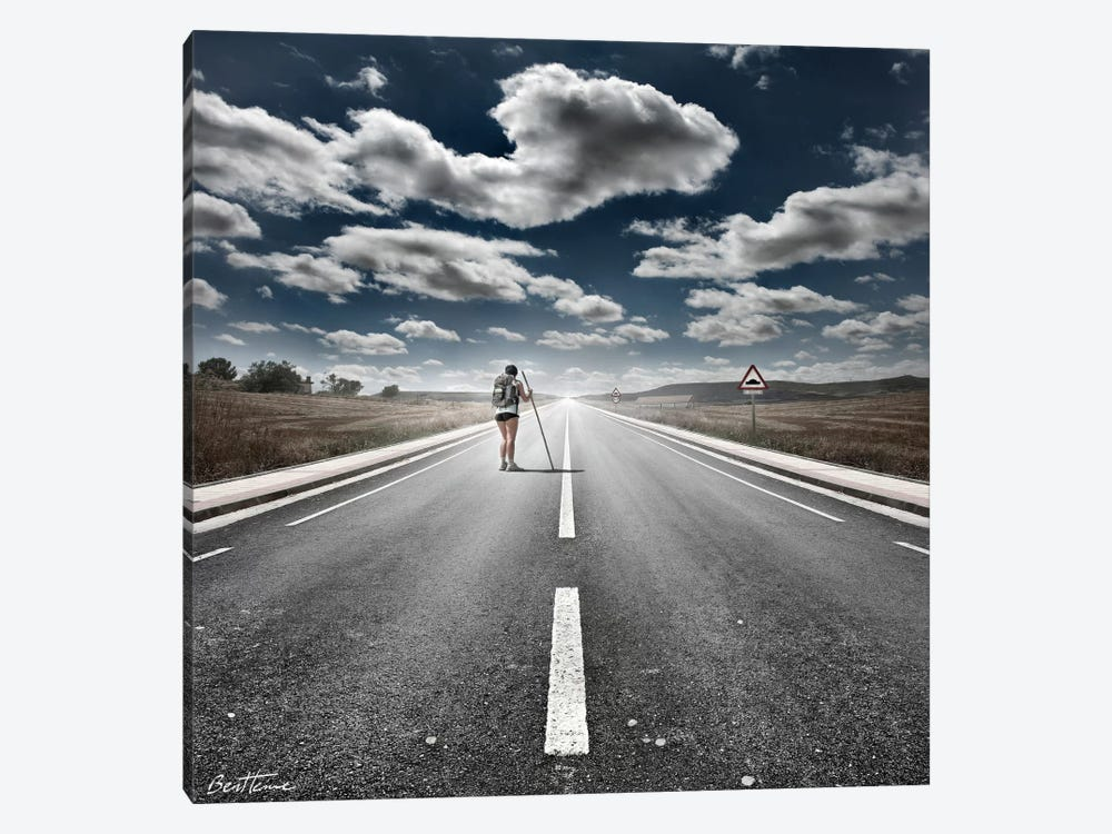 The Road Never Ends by Ben Heine 1-piece Canvas Art