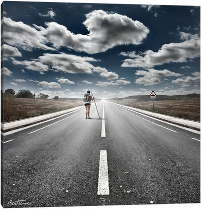 The Road Never Ends Canvas Art Print