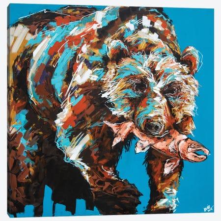 Warren The Bear Canvas Print #BHM10} by Bria Hammock Canvas Art