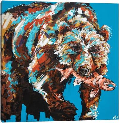 Warren The Bear Canvas Art Print