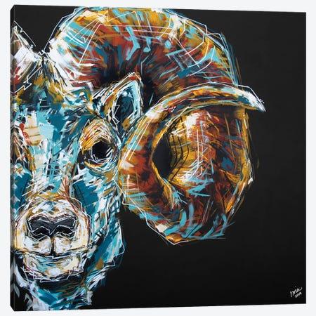 Jason The Ram Canvas Print #BHM14} by Bria Hammock Art Print