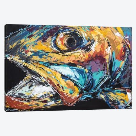 Mac The Rainbow Trout Canvas Print #BHM17} by Bria Hammock Canvas Art Print