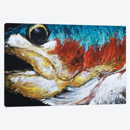 Jones The Rainbow Trout Canvas Print #BHM18} by Bria Hammock Canvas Art