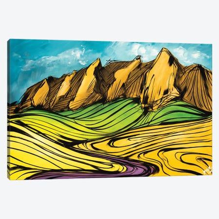 The Colorado Flatirons Canvas Print #BHM19} by Bria Hammock Canvas Wall Art