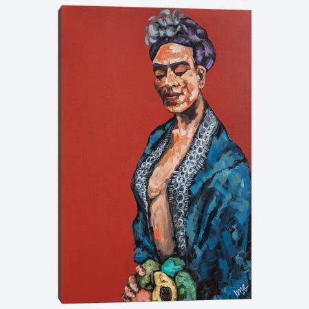 Frida Kahlo Canvas Print #BHM21} by Bria Hammock Canvas Art Print